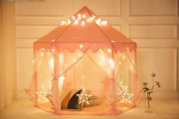 Free Shipping Children Portable Floding Princess Castle Play Tent Activity Fairy House Funny Tents Indoor Outdoor Sport Toy For Kids