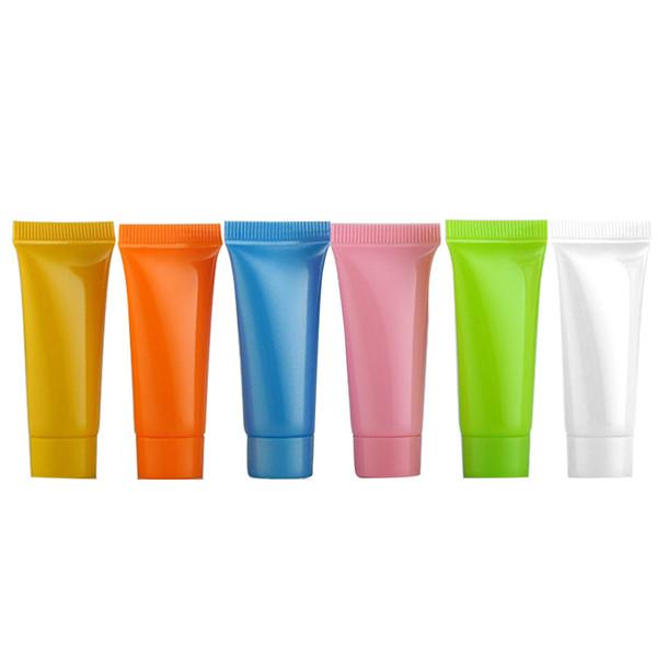 30 PZ 5 ml Vuoto Tappo a vite in plastica ricaricabile da viaggio Shampoo cosmetico detergente per il viso Lozione per le mani Morbido spremuta