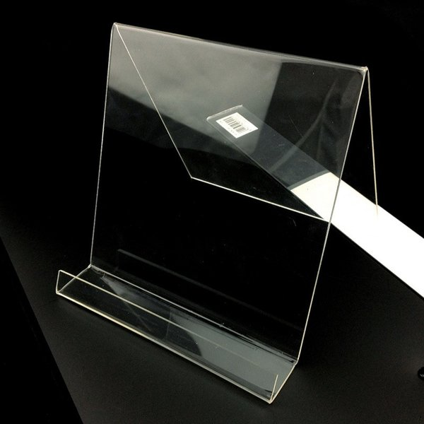 Acrylic Display Shelf Transparent iPod Tablet Stand Holder V Type Book Bookboard Display Rack Bracket Cell phone Accessories Free DHL