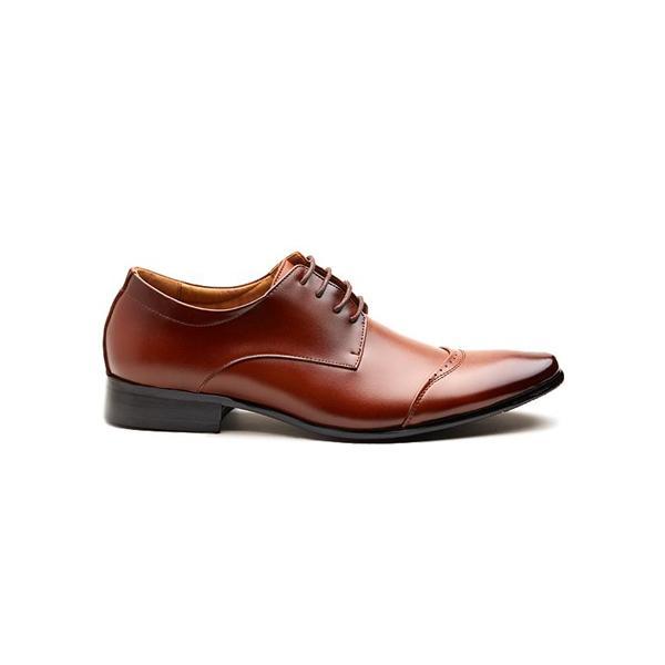 Hombre Formal New Classic Shoes Hecho a mano los hombres visten pisos de cuero formal negocio puntiagudo Derby Shoes punta redonda tamaño EU38-45