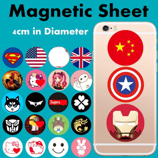40x0.5mm Lamina disco in metallo Magnete magico Supporto magnetico per anello per dito Supporto per telefono cellulare Prese universali per telefono