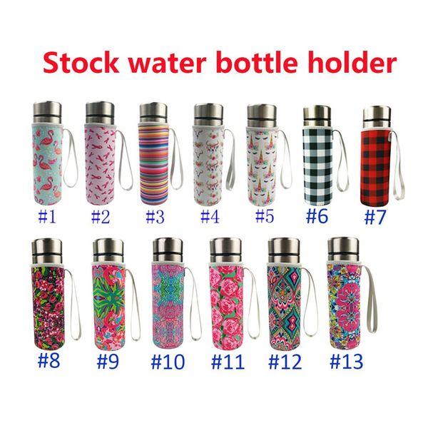 Flamingos Neoprene Water Bottle Cooler Bottle Holder Cover Sleeve Insulated Glass Drink Bottle Protection Cover Carrier ZC0518