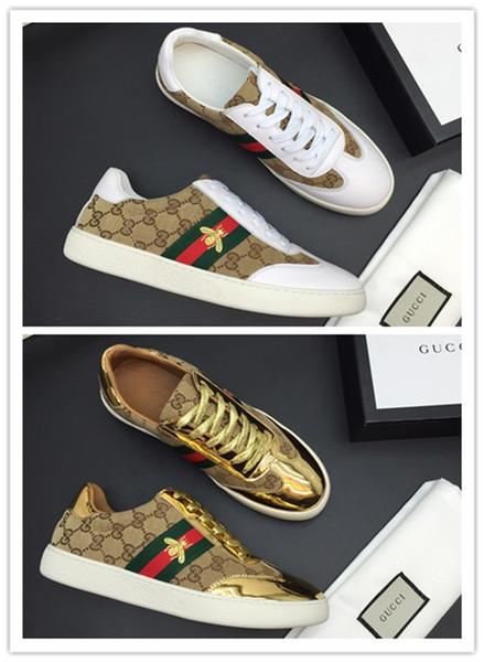 2019 Baba Ayakkabı lüks tasarımcı Konfor Rahat Ayakkabılar Erkek Günlük Yaşam Tarzı Kaykay Ayakkabı Eski Spor chaussures Yürüyüş Sneakers A012 Olun