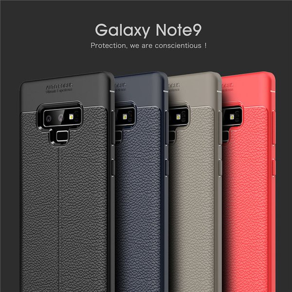 for Samsung Note 9 Bumper Armor Case Litchi Leather Style Ultra Thin Shockproof Cover TPU Silicon for Samsung Note 8 S8 Plus S7