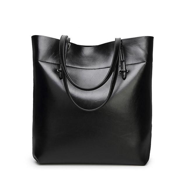 Brand Women Leather Casual Tote Bag Big Capacity Handbag For Mom Solid Top Handle Female Shoulder Bag Mother Bucket Bag