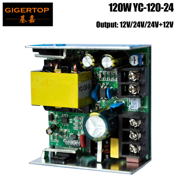 TIPTOP YC-120-24 120W Power Supply 24V Output Socket Compacted Size for 7x10W/7X12W RGBW Led Moving Head Light Mini Wash Led