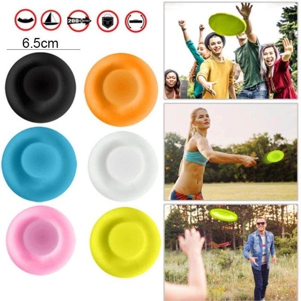 top popular TSP5183 HOT sale mini beach flying disk for outdoor sports silicone flying disc silicone flying toy 2021
