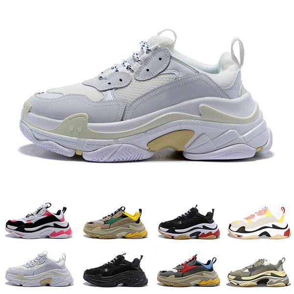 2019 designer paris 17fw triplos s sapatilhas para homens mulheres preto vermelho branco verde casual pai shoes tênis de luxo aumentando sapato 36-45