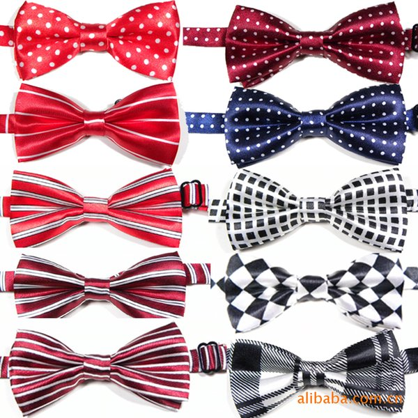 New children's double-layer printed bow tie handsome tide baby bow pet bow tie wholesale custom