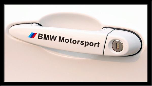 M Motorsport Stickers Car Handle Sticker Badge Decals for BMW m3 m5 E34 E36 E60 E90 E46 E92 BMW E39 X3 X5 X1 X6 accessories car styling