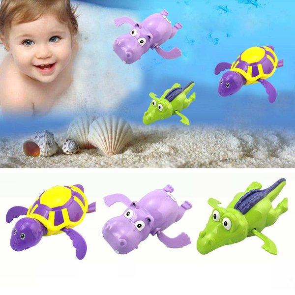2019 mais novo Hot Wind Up Clockwork Tartaruga bonito Crocodile Hippo Criança Criança de banho Piscina Favor Bath Time Jogar Brinquedos