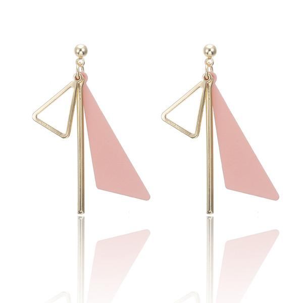 Pendientes de gota llamativos del triángulo del color del oro de cobre para el pendiente de las mujeres Pendientes de calle colgantes lindos del estilo coreano Femenino diario