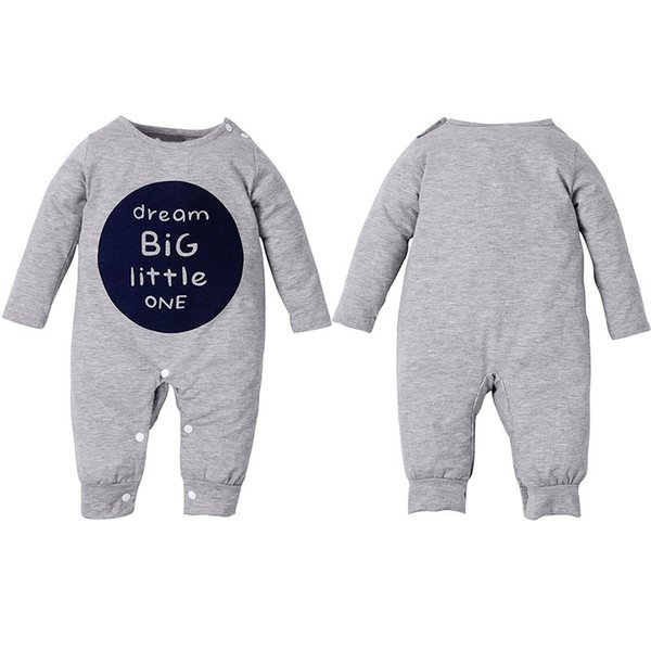 Cute Kids Clothes Letter Printed Baby Clothing Set Long Sleeve Romper One-piece Jumpsuit Set Autumn Boys Girls Clothes Y190515