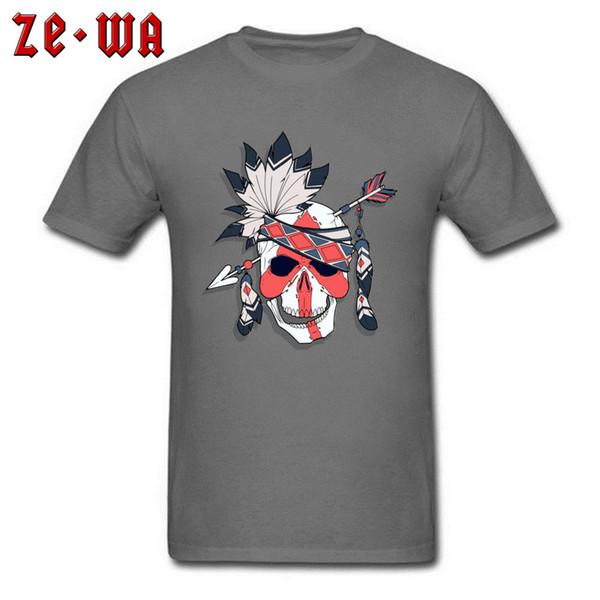 Skeleton T-shirt India Skull Design Men T Shirt Crew Neck Tops Unique 3D Print Tees Punk Style Band Clothes Custom Company