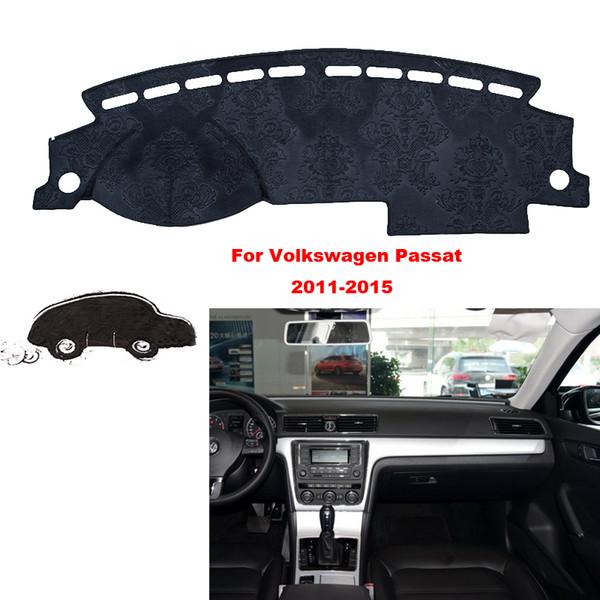 Auto styling für volkswagen passat 11-15 innen armaturenbrett pad abdeckung dash mat aufkleber anti-sun velvet instrument