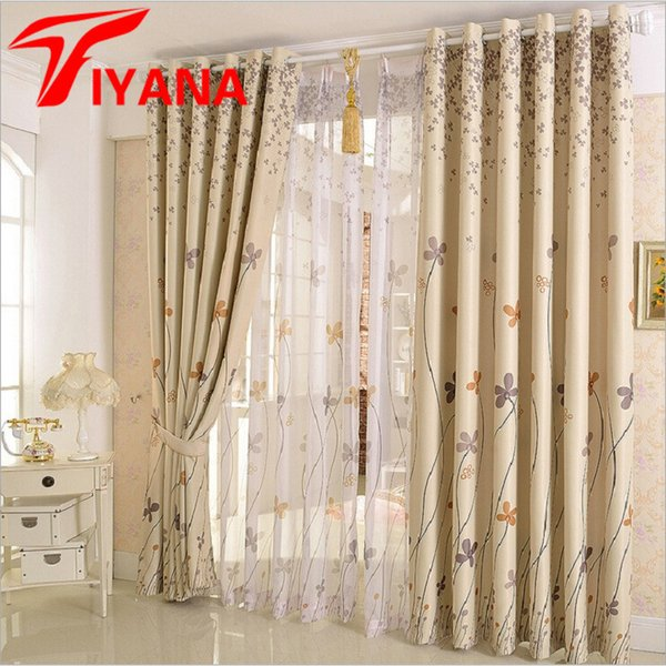 2019 Rustic Clover Dandelion Design Curtains For Living Room / Bedroom  Blackout Curtains Window Treatment /Drapes Home Decor P206Z30 From  Aozhouqie, ...