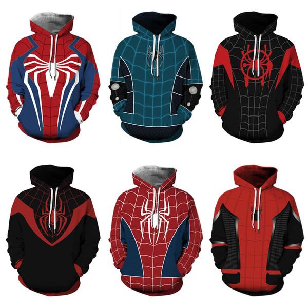 Kırmızı 3D Örümcek Adam Kazak Hoodies Sweatshirt Hoodie Erkek Kadın Kırmızı Örümcek Kış Hoodie Cosplay Sweatshirt Ceket