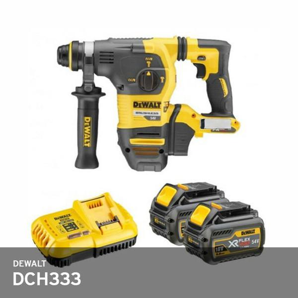 DeWalt DCH333 Hammer Drill SDS Rotary 54V 2x3.0Ah Charger_DCB118 Hard Case / UPS