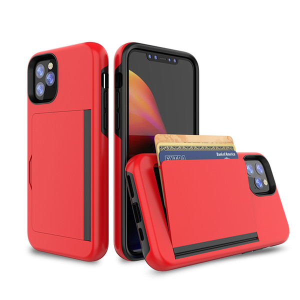 Custodia a fessura per carta per portafoglio 3in1 per iPhone 2019 XS Max XR X 8 7 6 Plus Custodie telefoniche antiurto per S10 Nota 10