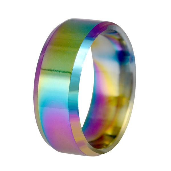 2019 Fashion Jewelry 8MM Stainless Steel Ring Band Titanium Ring Men Titanium Black Wedding engagement Rings