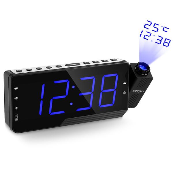 ZEEPIN PRA-001 Dijital Projektör Saatli Radyo Alarm Erteleme Zamanlayıcı Sıcaklık