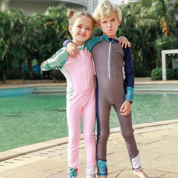 Mädchen Bademode Baby Jungen Mädchen Kleidung Teenager Beachwear Infant Kinder Strand Badeanzug Jungen Kinder Overalls Badeanzug Y891