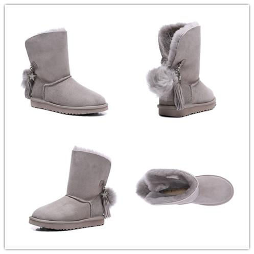 2019 New Australia Classic snow Boots High Quality Cheap women winter boots real leather Bailey Bowknot women's bailey bow snow boots 05