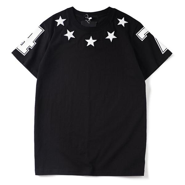 Lüks Erkek Tasarımcı T Shirt Tasarımcı Rahat Kısa Kollu Moda Yıldız Baskı Yüksek Kalite Erkekler Kadınlar Hip Hop Tees