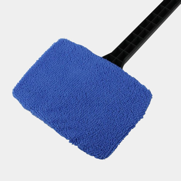 Microfiber Auto Window Cleaner Long Handle Car Washer Brush Car Windshield Glass Wiper Cloth Clean Tools Washable