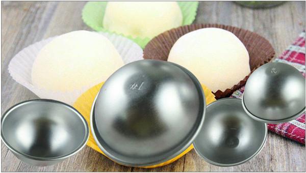 Spedizione gratuita Baker strumento 3D in lega di alluminio sfera sfera bagno bomb muffa torta di cottura pasticceria stampo