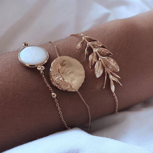 Vente chaude Exquis Femmes Bracelet Bracelet Mode Simple Style Ethnique Bracelet Rétro Femelle Créative Laides Braceletes Bijoux #F