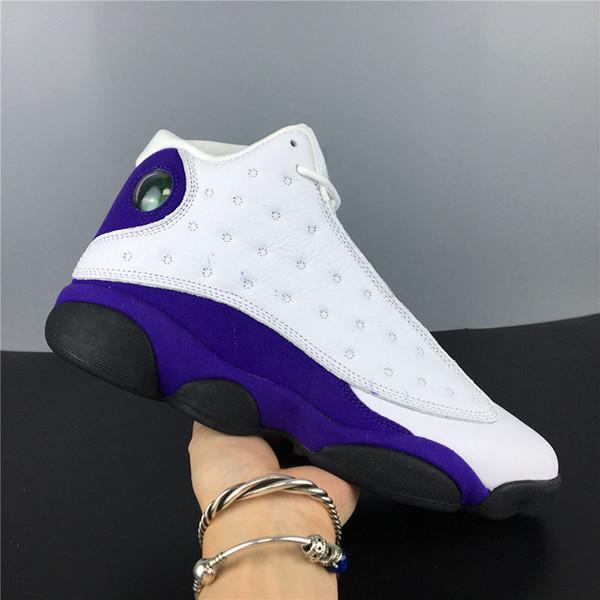 first rate 56b84 6d1e6 Retro Big Kids Mens 13 13s Lakers Rivals White Purple Basketball Shoes  White Black Court Purple University Gold Sneaker Shoe Cheap Sneakers  Basketball ...