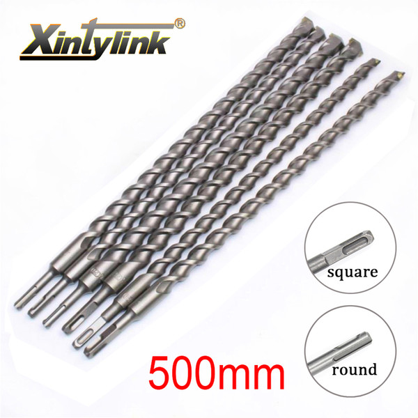 Tools Bit xintylink 500mm Chrome steel percussion bit Cement hole saw Wall Square shank for Building site