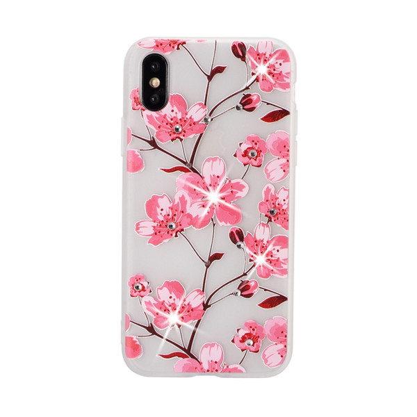 Para sony s10 s10e note9 s9 s8 j4 j6 bling diamante macio tpu case flor mandala flor rosa henna floral paisley gel tampa traseira emboss