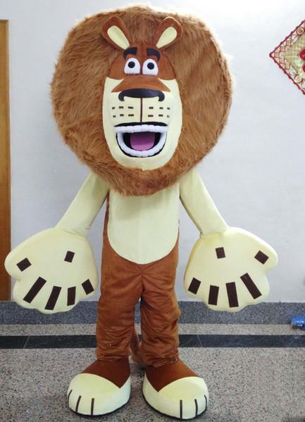 2019 Hot sale big head big hands lion mascot costume for adult to wear simba lion mascot suit