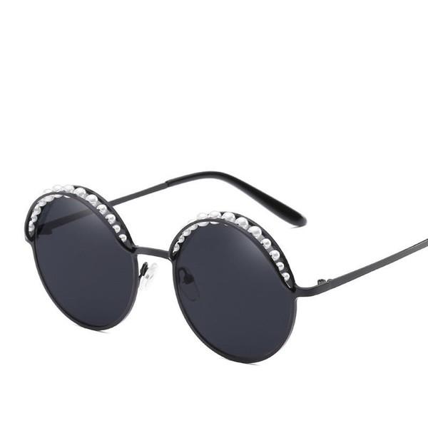 2018 armação de Metal pérola olho ornamental quadro óculos de sol dos homens oculos de sol feminino óculos de sol mulheres gafas de sol mujer JX66248