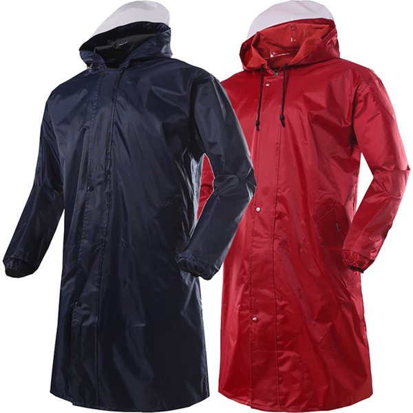 Long Raincoat Men Hiking Waterproof Poncho Outdoor Woman Rain Cape Chuva Coat Man Women Jackets Pluie Raincoats Hooded RBY040