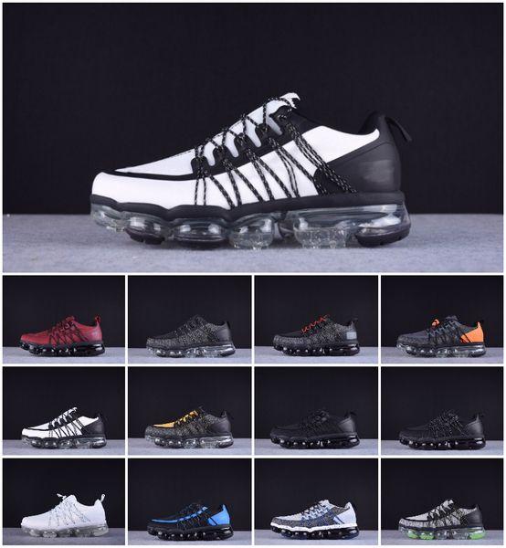 Compre Designer Air 2019 Run Utility Men Shoes Mejor Calidad Negro Antracita Blanco Reflect Silver Descuentos En Zapatos Utility Boost Sport Sneakers