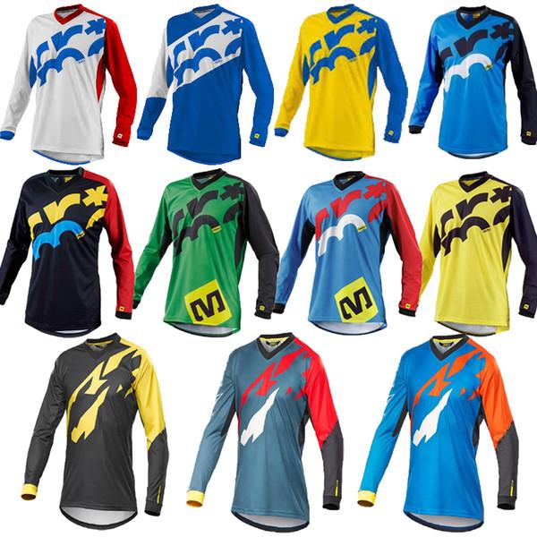 Camisa de Ciclismo 2018 dos homens de Manga Longa de Bicicleta Maillot MTB Camisa Downhill Uniforme Desgaste Mountain Bike Vestuário Roupas de Motocross C18122701