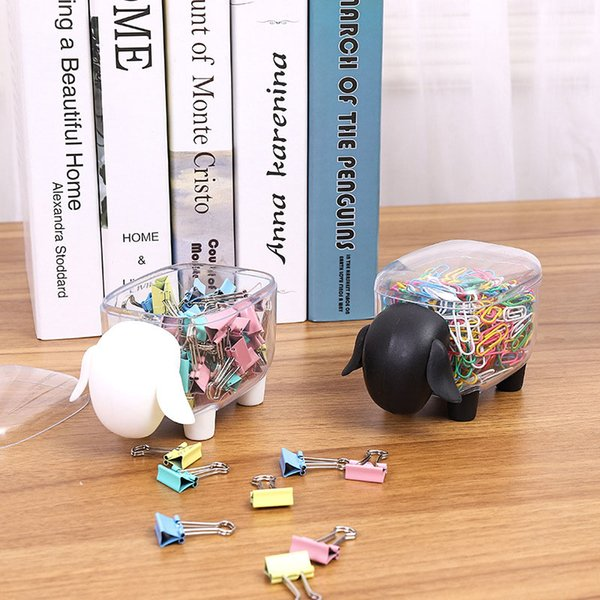 Cute Cartoon Elephant Sheep Cotton Swab Box Plastic Multifunction Home Office Supplies Cordero Clips de papel Organizador Palillo de dientes