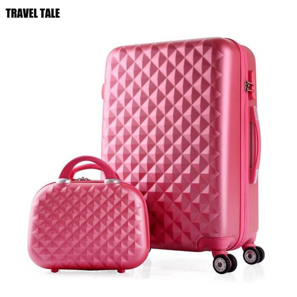 TRAVEL TALE girls cute trolley luggage set ABS hardside cheap travel suitcase bag on wheel