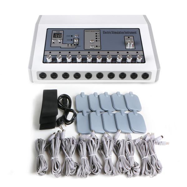 Profesyonel EMS birleştiren kızılötesi zayıflama ve elektronik kas stimülatörü elektrot stimülasyon makinesi