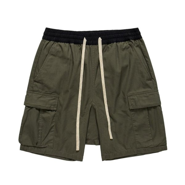 New FEAR OF GOD Essentials CARGO SHORTS FOG Top Quality Hin Hop Shorts Summer Beach Basketball Mens Short Pants HFWPDK025