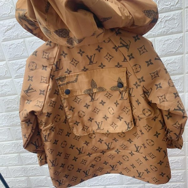 top popular Kids Designer Jackets Luxury Pattern Thin Coat Active Boys Windbreakers Brand Girls Hooded Jacket Unisex Clothes Wholesale Size 100-160 2019