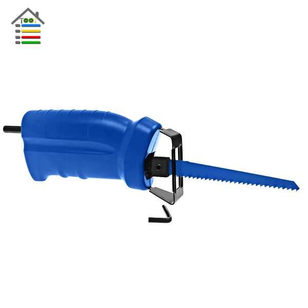 eciprocating Saw Metal Wood Plastic PVC Cutting Tool Electric Drill Attachment with 3 blades Garden Power Tool Accessories Reciprocating ...