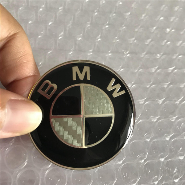 Centro in fibra di carbonio nero 45MM 3D VOLANTE cap colla colla Striker LOGO Emblem Badge Stick per BMW
