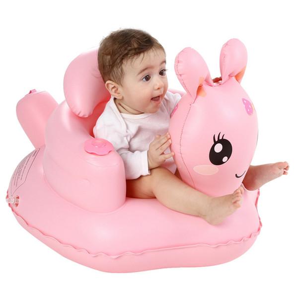 Seggiolone gonfiabile multifunzionale per bambini in PVC Sedile per bambini Sedili da bagno rosa da pranzo Passeggino Infantile portatile per bambino
