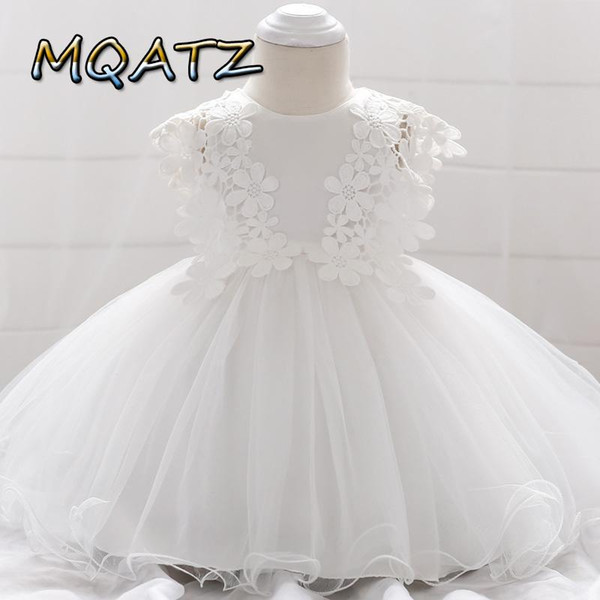 Bebek kız Elbise Mini Nakış prenses Elbise petti Kostüm boncuklu Mesh tutu düğün Bebek toddle okul öncesi Giyim