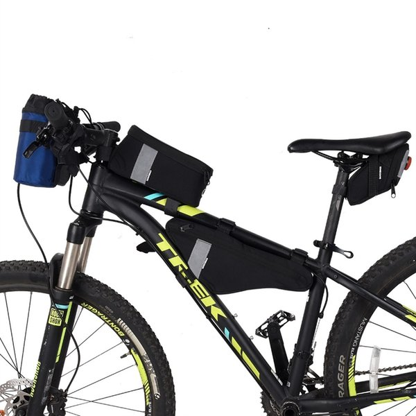 Sahoo Series Cycling Bicycle Front Frame Top Tube Cell Mobile Phone Bike Bag Saddle Bag Triangle Pack #250273