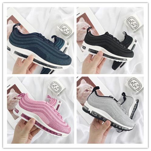 Compre Nike Air Max Airmax 97 OG 97 Niños Niños Chicas Casual 2019 Zapatillas De Deporte Silver Bullet Metallic Gold Athletic Caminar Correr Calzado